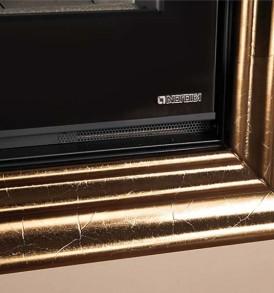 Rivestimento Cornice Maiolica Oro Craquelé (escluso il focolare abbinabile)